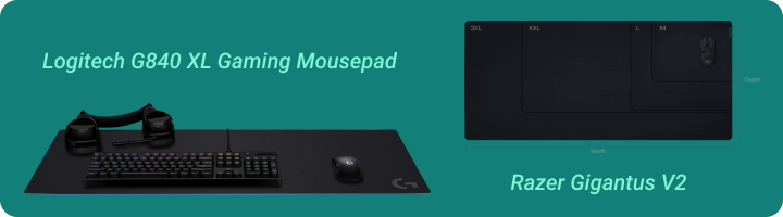 Mouse pad for streaming