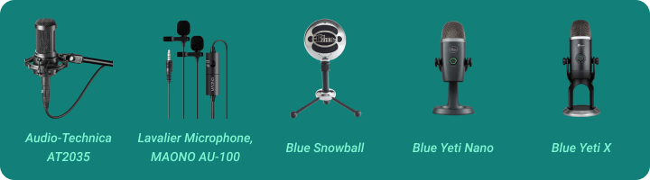 Microphones for streaming